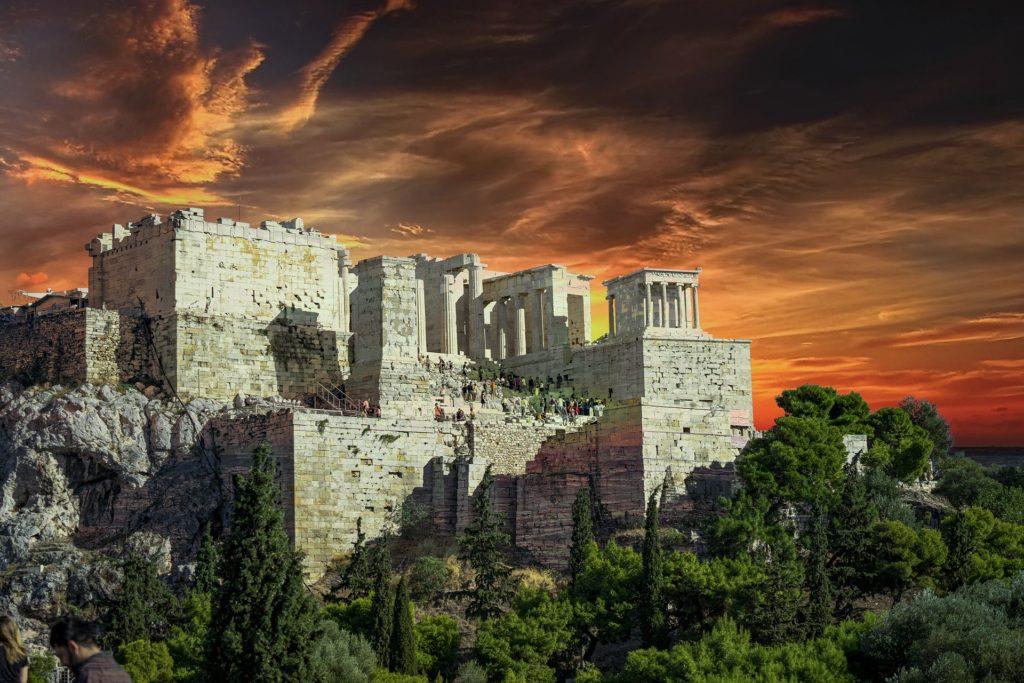 Акрополь в Афинах, непогода