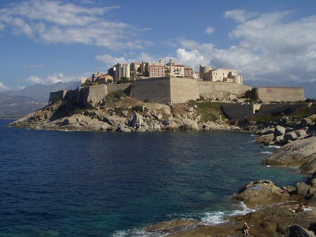 острова в Средиземном море, Корсика, море, крепость