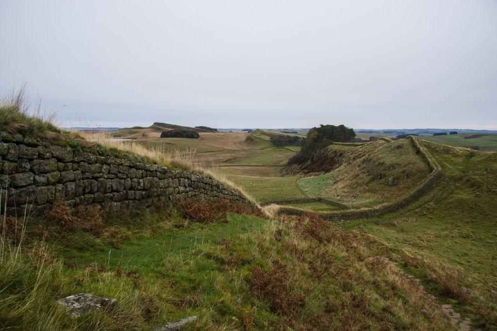 Адриана wall, римский, стены, архитектуры, исторически, Великобритании