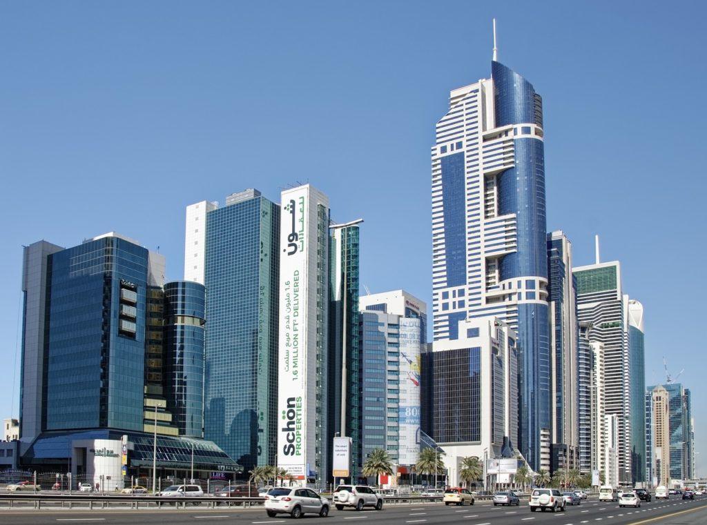 Дубай, ОАЭ, небоскребы